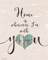 Home with You (heart) Fine Art Print