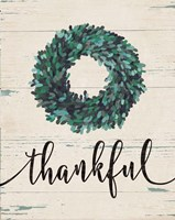 Thankful Wreath Fine Art Print