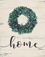 Home Wreath (vertical) Fine Art Print