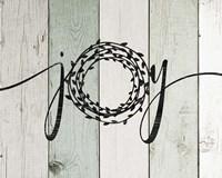 Joy Rustic Wreath II Fine Art Print