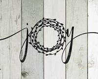 Joy Rustic Wreath II Fine Art Print