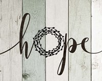 Hope Rustic Wreath II Fine Art Print