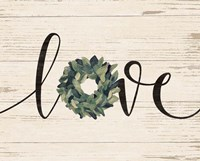 Love Wreath Framed Print