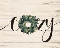 Cozy Wreath Framed Print