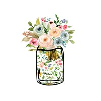 Mason Jar Bouquet Fine Art Print