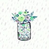 Mason Jar Florals Fine Art Print
