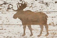 Moose in Reverse Fine Art Print
