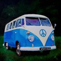 Blue Van Fine Art Print