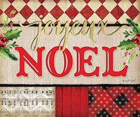 Joyeux Noel Plaid Fine Art Print