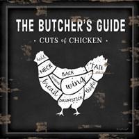 Butcher's Guide Chicken Fine Art Print