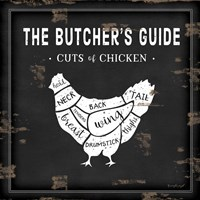 Butcher's Guide Chicken Fine Art Print