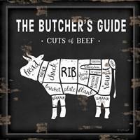 Butcher's Guide Cow Fine Art Print