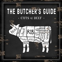 Butcher's Guide Cow Fine Art Print