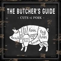 Butcher's Guide Pig Fine Art Print