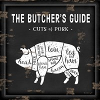 Butcher's Guide Pig Fine Art Print