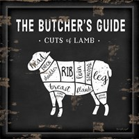 Butcher's Guide Lamb Fine Art Print