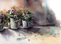 Flower Pots Fine Art Print
