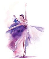 Purple Ballerina Fine Art Print