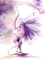 Purple Ballerina II Framed Print