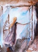 Lady in Wind Fine Art Print