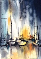 Midnight Marina Fine Art Print
