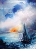 Sunset Sail Fine Art Print