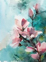 Pink and Pink and Blue Fine Art Print
