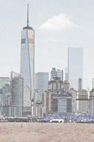 Lower Manhattan Skyline Fine Art Print