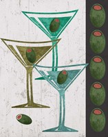Martini and Olives I Fine Art Print
