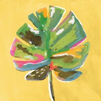 Painted Palm on Yellow Fine Art Print