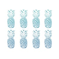 Beach Ombre Pineapples Simple Fine Art Print