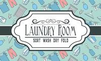 Laundry Room Sign Green Pattern Fine Art Print