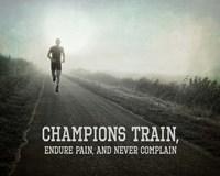 Champions Train Man Black and White Fine Art Print