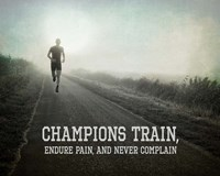 Champions Train Man Black and White Fine Art Print