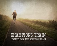 Champions Train Man Color Framed Print