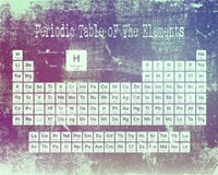 Periodic Table Purple Grunge Background Fine Art Print