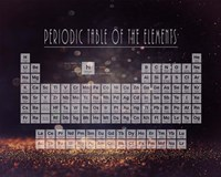 Periodic Table Gold Dust - Purple Fine Art Print
