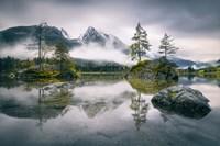 Rainy Morning At Hintersee (Bavaria) Fine Art Print