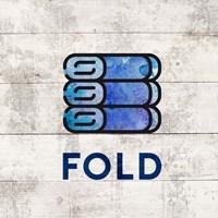 Laundry Sign White Wood Background - Fold Fine Art Print