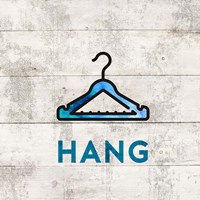 Laundry Sign White Wood Background - Hang Fine Art Print