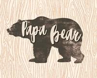 Papa Bear Silhouette Fine Art Print