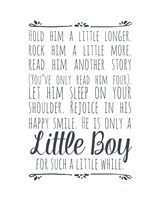 Hold Him A Little Longer - White Fine Art Print