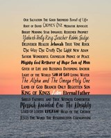 Names of Jesus Ocean Sunset Fine Art Print