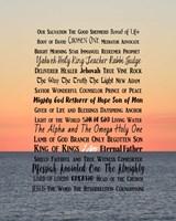 Names of Jesus Ocean Sunset Fine Art Print