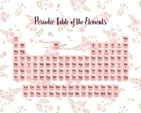 Periodic Table Of The Elements Pink Floral Fine Art Print
