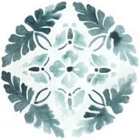 Aqua Medallions III Framed Print
