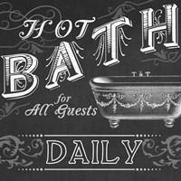 Chalkboard Bath Signs II Framed Print