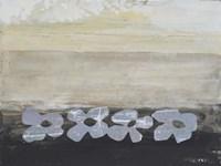 Stenciled Posies V Fine Art Print