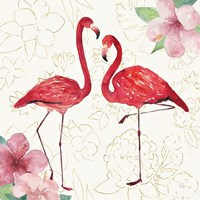 Tropical Fun Bird IV with Gold Fine Art Print