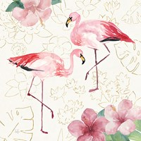 Tropical Fun Bird V with Gold Fine Art Print
